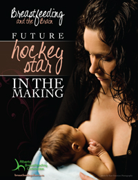 Breastfeeding hockey poster thumbnail